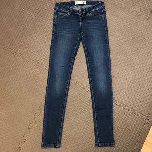 Low rise dark blue skinny jeans from garage